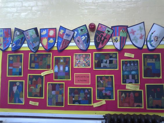 Artwork with inspiration from Paul Klee linked to our Castles theme
