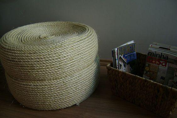 Puff de Pneus revestido com cordas
