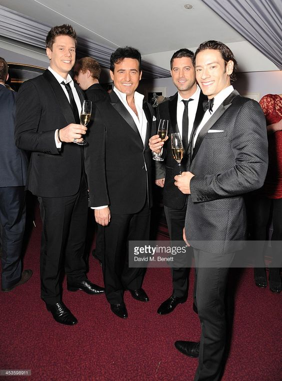 Il Divo, David Miller, Carlos Marin, Sebastien Izambard and Urs Buhler attends Best Beginnings at the grand opening of The Statoil Masters Tennis at Royal Albert Hall on December 4, 2013 in London, England.