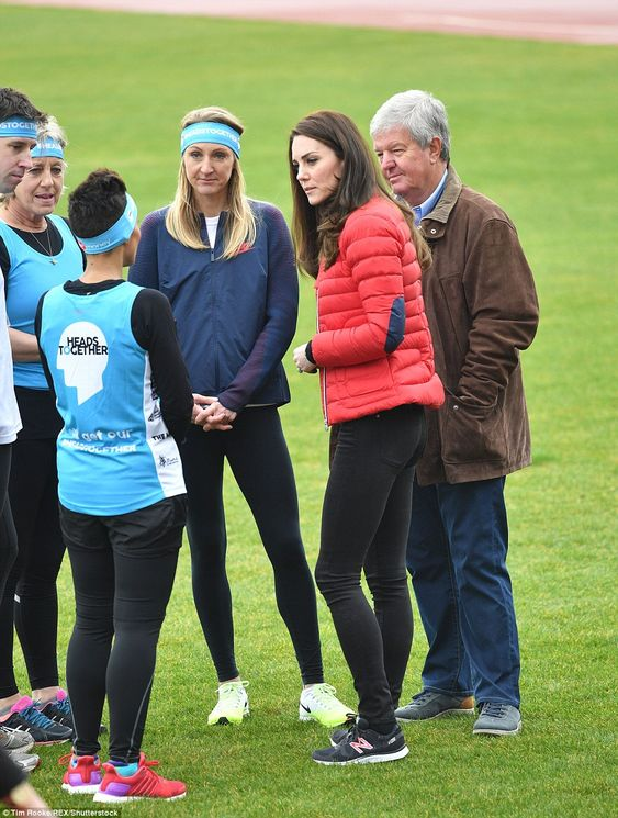 The Duchess seemed keen to get some tips from some of the runners before her race: