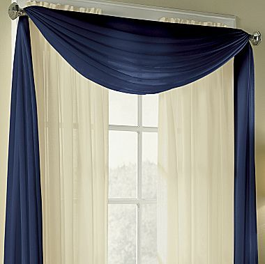 American living valances cape sheer scarf jcpenney in - Living room curtains with matching pillows ...