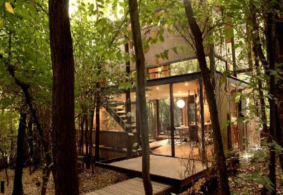 retreat in the woods.