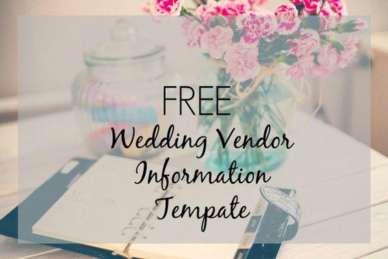 Download Your FREE Wedding Vendor Template Contact Form, Free - vendor list templates