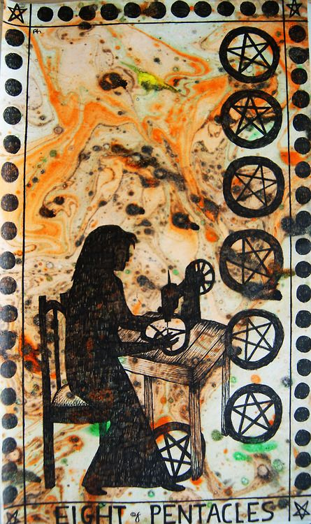 eight of pentacles | Tumblr: