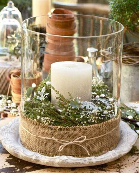 Selecionamos 25 ideias de decoração de mesas de Natal com velas: é simples, econômico e muito bonito.: