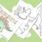 Dinosaur Printables for Preschool | Animals, Coloring ...