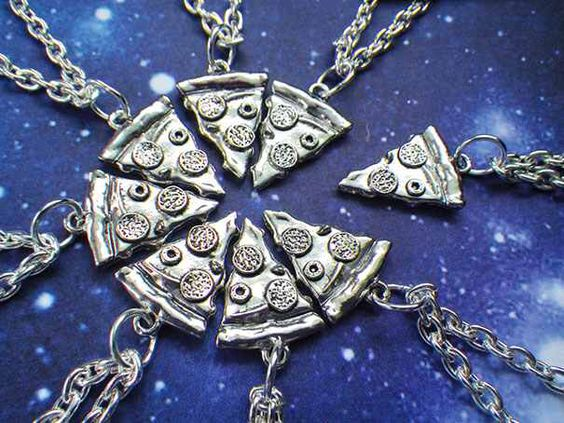 Besties!! Pizza Necklace