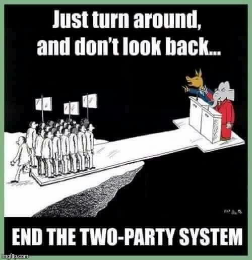 """The two parties have all the financial support from the corporations and elites. A common complaint against Green, Libertarians, and other Independents by the slow-witted is """"Nobody knows (fill-in-the-blank candidate)""""... get vocal and make your third party person's platform well known.  Your voice must be their free advertisement!"""