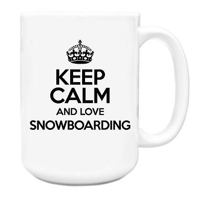 #Black keep calm and love #snowboarding big 15oz mug txt 1383,  View more on the LINK: http://www.zeppy.io/product/gb/2/322095303326/
