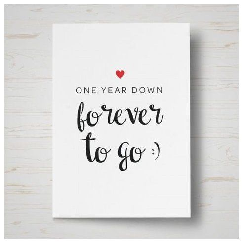 One Year Down Anniversary Card First Anniversary Scrapbook Firstanniver Anniversary Cards For Husband Anniversary Cards For Boyfriend 1st Anniversary Cards