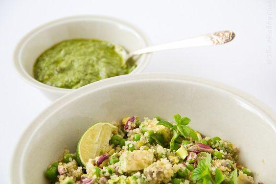 Green Salad with Quinoa – Πράσινη Σαλάτα με Κινόα