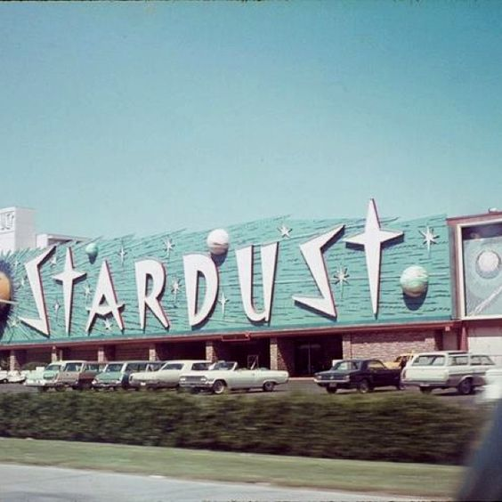 Vintage Las Vegas ~ old photo of the original Stardust Casino signage