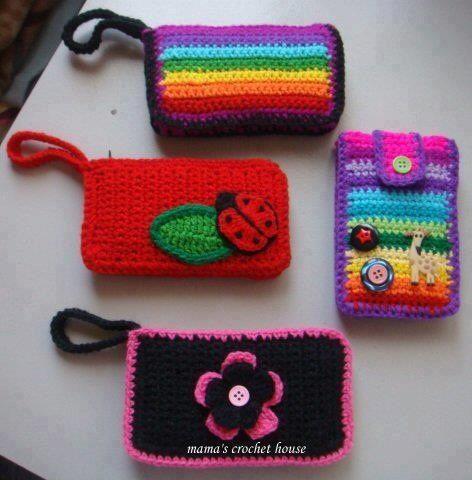 Celulares Buscar, Fundas Para Celular, Estuche Celular, Bolsos Porta Celulares Etc, Celulares Monederos, Para Crochet, Crochet Buscar, Bolsos De Ganchillo,