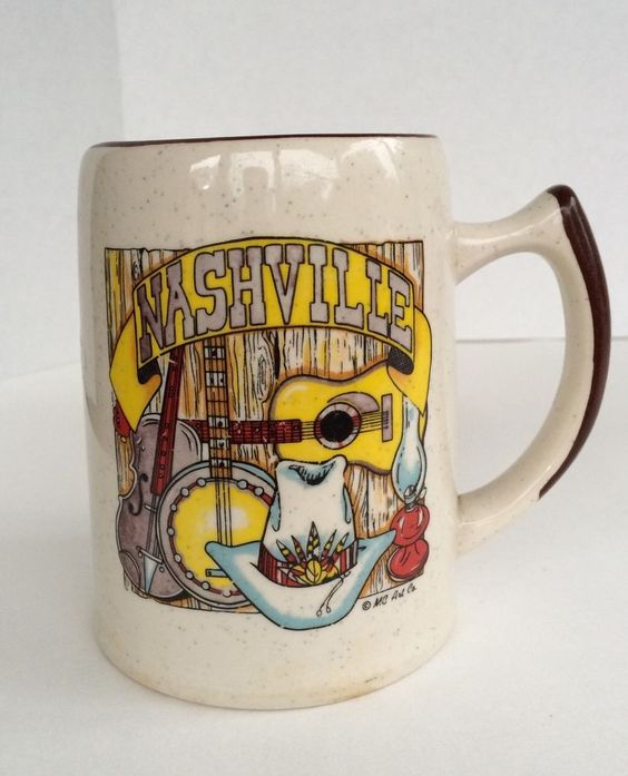 Pre-Owned Vintage Collectible Stoneware Mug Nashville MC Art Co. | Collectibles, Decorative Collectibles, Mugs, Cups | eBay!