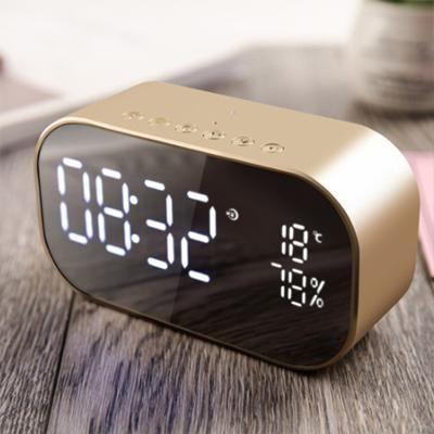 Mirrored Alarm Clock Modern Digital LED FM Radio