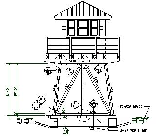 Lookout towers engineered plans for 1 story lookout for House plans with observation room