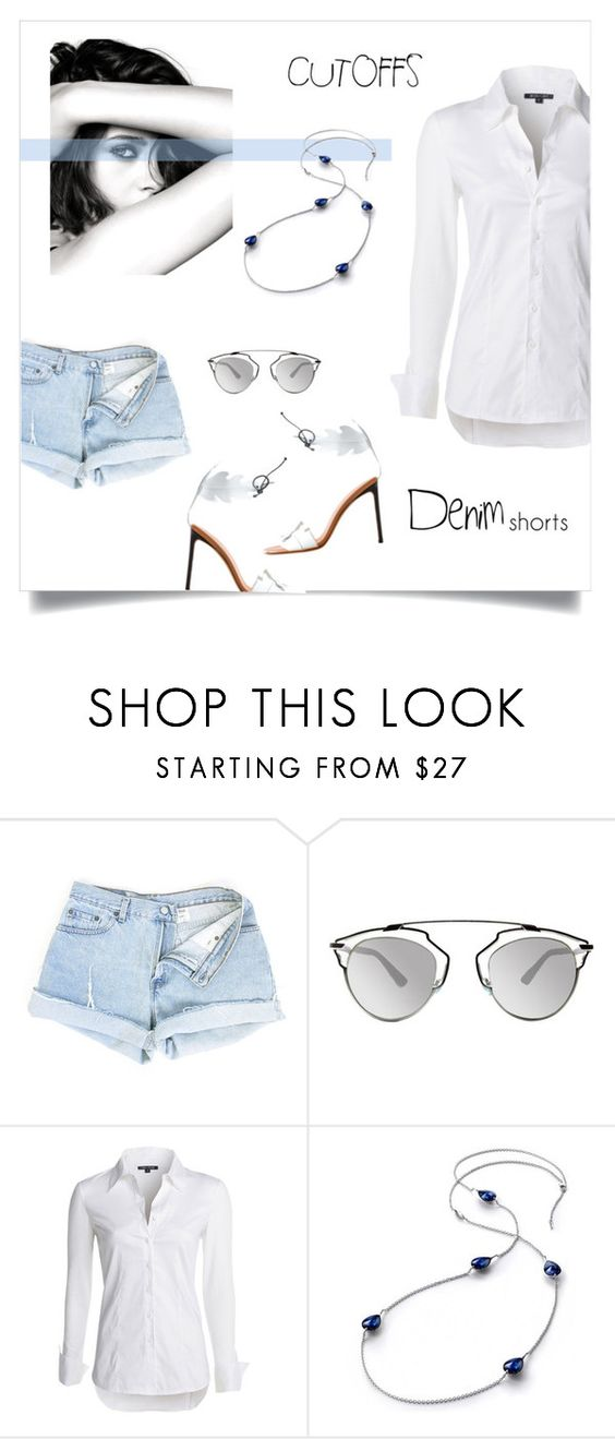 """Untitled #775"" by tjuli-interior ❤ liked on Polyvore featuring Chanel, Christian Dior, NIC+ZOE, jeanshorts, denimshorts and cutoffs"