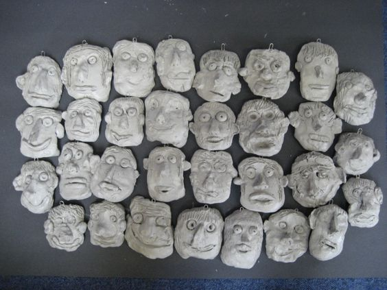 clay faces, small version: