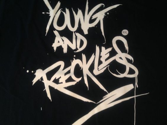 Young & Reckless Graphic T Shirt Tee New With Tag Navy & White  2X-Large NWT  #YoungRestless #GraphicTee