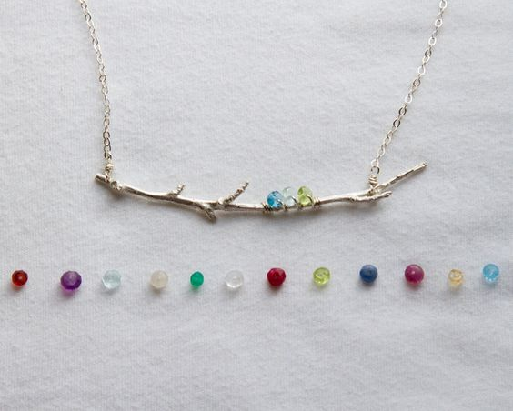 Family Branch Birthstone Necklace|Mother's Birthstone Jewelry - lovely idea