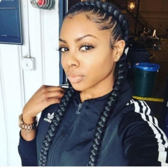 How To Do Two French Braids Easy With Weave Black Google Search Crochetbraids Blackhairstyl Two Braid Hairstyles French Braids Black Hair Two French Braids