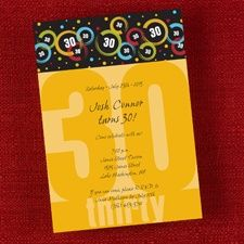 lots of 30th birthday party invites