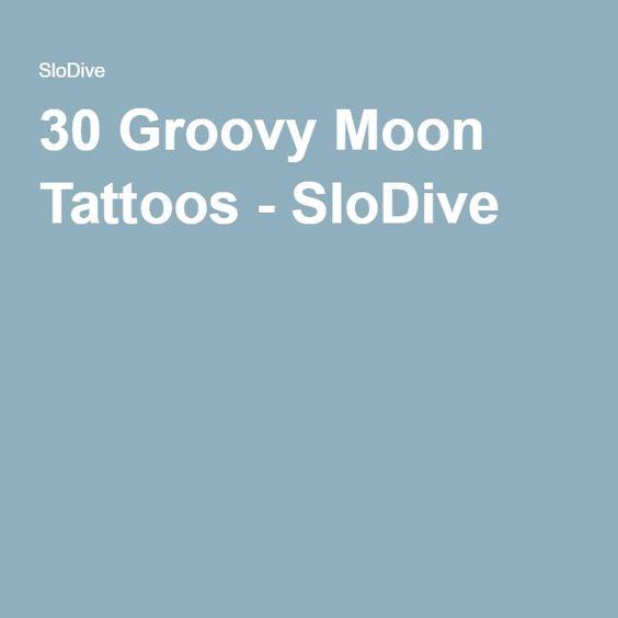 Stupendous 30 Groovy Moon Tattoos Slodive Tattoos Pinterest Hairstyles For Men Maxibearus