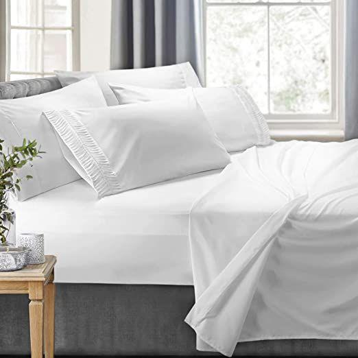 Fitted Sheet Light Grey Luxe Bedding 100/% Cotton Deep Pocket