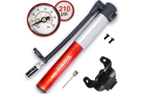 Doko In Mini Bike Pump With Gauge Frame Mount Bicycle Pump With