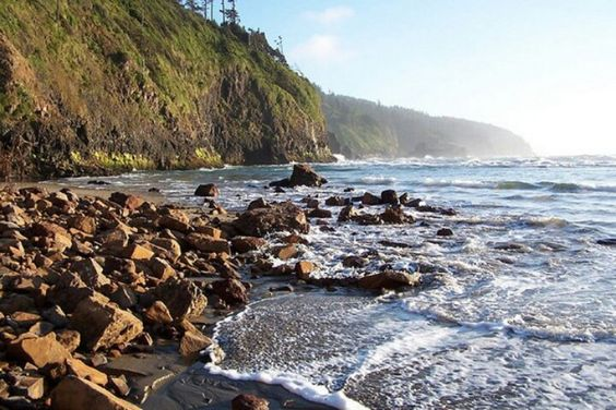 That looks like Cape Lookout as seen from Cape Meares beach...