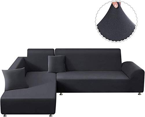 New Taococo Sectional Couch Covers 2pcs L Shape Sofa Covers Polyester Fabric Stretch Furniture Cover Pet Dog Sofa Slipcovers L Type Flexible Sofa Cover 3 Seat In 2020 Couch Covers Sectional