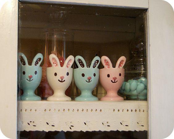 bunny egg cups :)