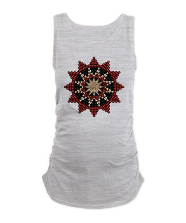 Ash Gray Sunburst Rosette Ruched Maternity Tank - Women & Plus #zulily #zulilyfinds