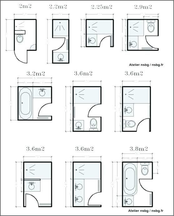 6×8 Bathroom Layout