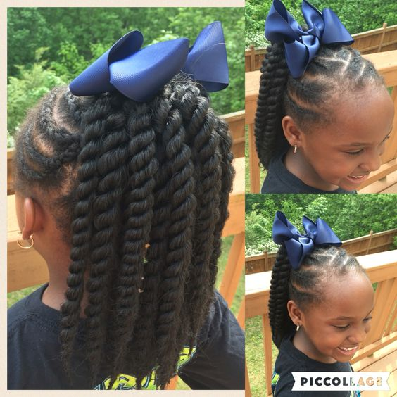 ... janiyah s hair kid hair hair kids curly hair crochet ponytail