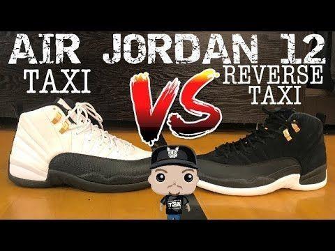 Air Jordan 12 Reverse Taxi 2019 Sneaker On Feet Vs Og Taxi Shoes