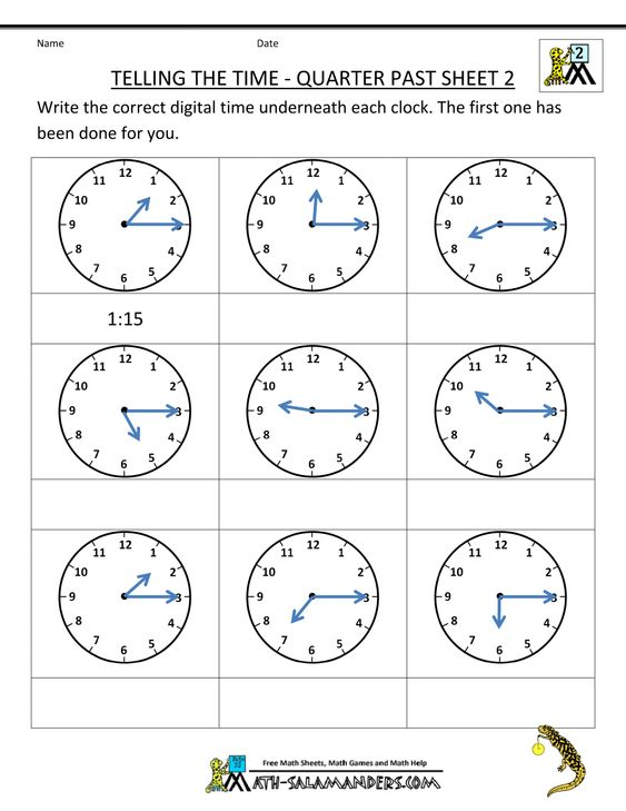 Pre School Worksheets : math worksheets for 3rd graders clocks ...