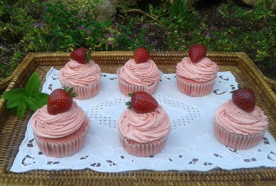 Cupcakes de Fresa