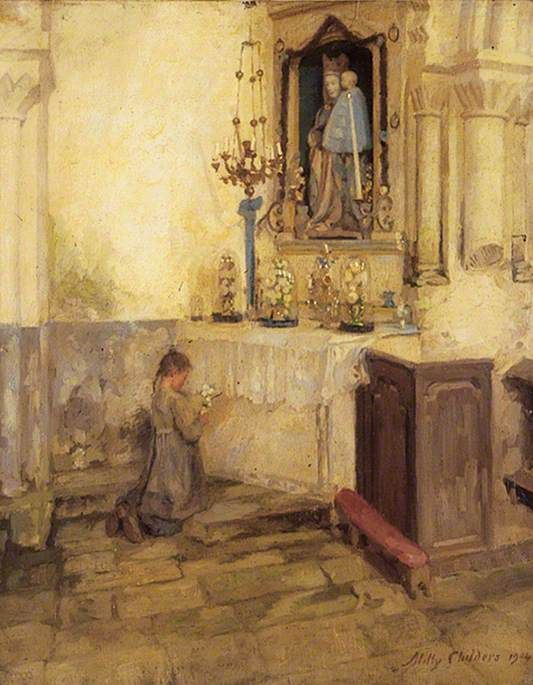 Girl Praying Painting