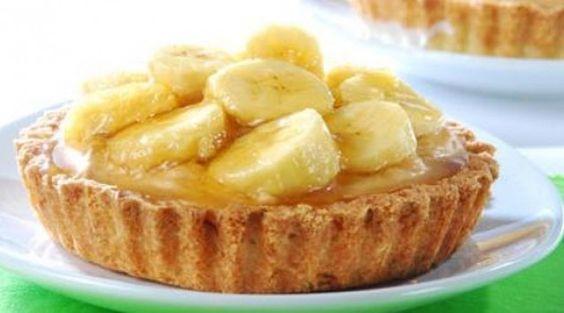 Mini-tortinhas de banana caramelizada - Bolsa de Mulher
