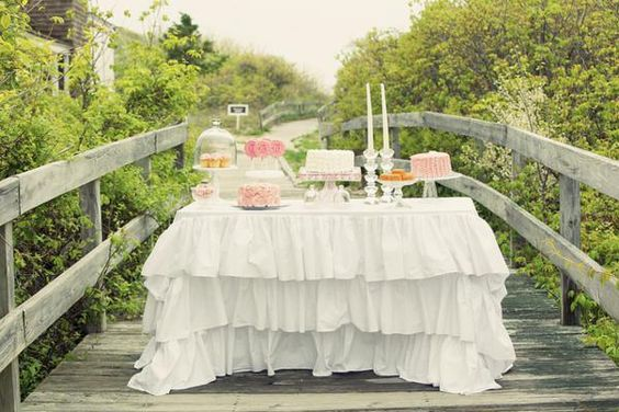 Oh me, oh my...this Shabby + Romantic Pink 30th Birthday Celebration on Kara's Party Ideas is divine! LOVE the ruffle tablecloth and the ruffle cake! www.KarasPartyIdeas.com