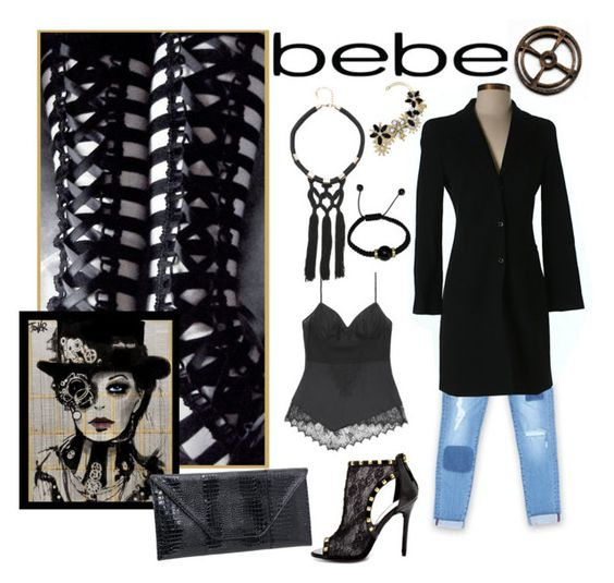 """""""All Laced Up for Spring with bebe: Contest Entry"""" by shoppe23online ❤ liked on Polyvore featuring Bebe and alllacedup"""