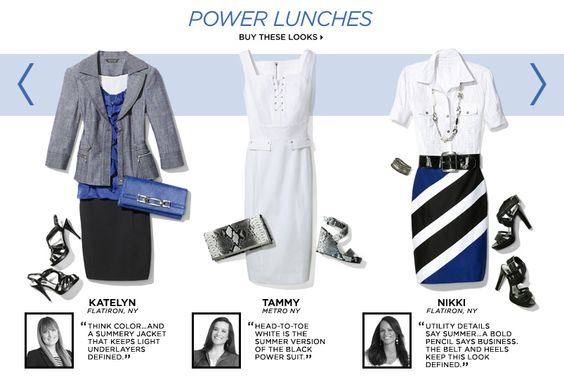 Power lunch attire for work  http://www.itstechnologies.com