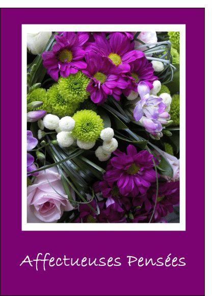 Carte Condoleances affectueuses pensées pour envoyer par La Poste, sur Merci-Facteur !