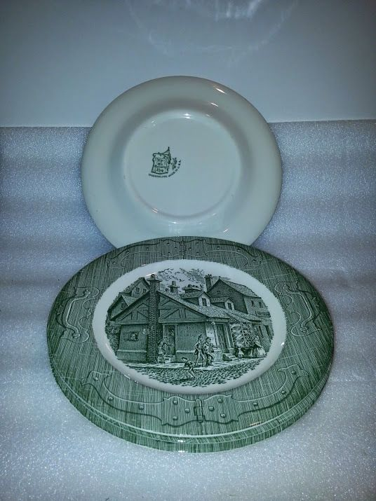 """The Old Curiosity Shop Royal China 10"""" Dinner Plate Set of Four  #RoyalChina"""