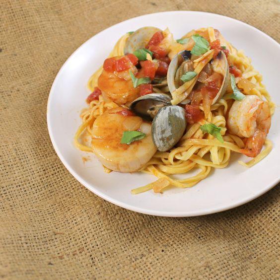 Scallop pasta recipes tomato