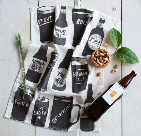 Even the guys can get into this! Beer Bar Towel