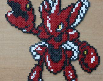 Ho-Oh Pokemon Hama cuentas Perler Sprite oro por StrepiePixelCrafts