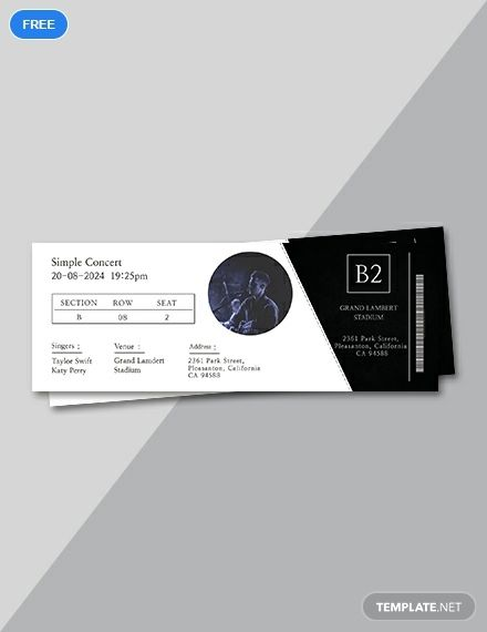 Simple Concert Ticket Template Free Jpg Illustrator Word Apple Pages Psd Publisher Template Net Ticket Design Ticket Template Free Ticket Design Template