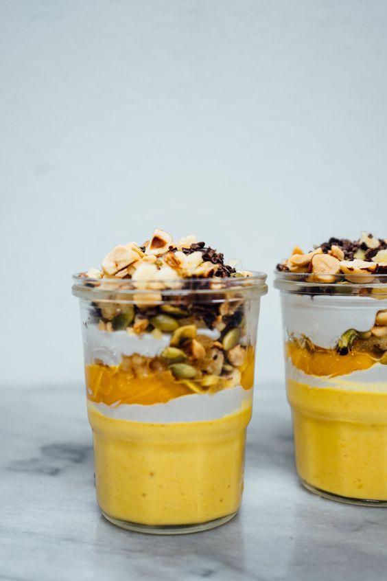 maple pumpkin pots de creme parfaits (dairy/sugar free)
